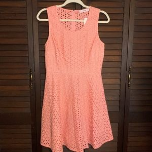 NWT Peach Just Fab Cut Out Lace Dress Size Medium